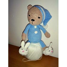Osito Dormilón Amigurumi - Tejido Crochet Peluche Bebé