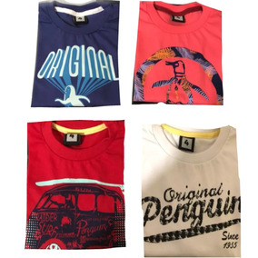Pack X 10 Remeras Penguin Manga Larga Chicos