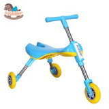 Bicicleta Aprendizaje Triciclo Sin Pedales Plegable!