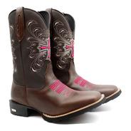 Bota Texana Country Feminina Cowgirl Butina Super Oferta