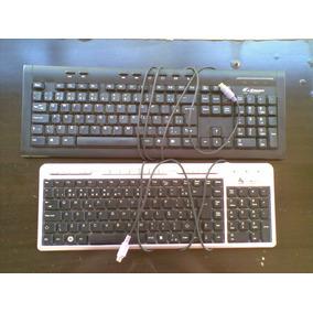 2 (dois) Teclados Para Computador Entrada Ps2 Com Defeito***