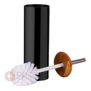 Escova Sanitária Para Banheiro Lavabo Com Base Preta E Bambu