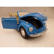 Vw Sedan Superbeetle 71 Cabrio Esc 1/24 Nuevo Autos Azul