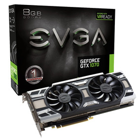 Pl. Vídeo Vga Evga Geforce Gtx 1070 Gaming 3.0 8gb Ddr5 256