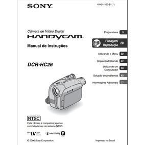 Manual Em Portugues Sony Dcr-hc26