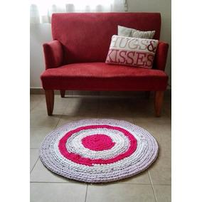 Alfombra Totora - Alfombra Artesanal - Tejida A Crochet