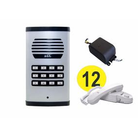 Porteiro Eletrônico Coletivo Predial 12 Pontos 12 Interfones