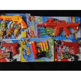 Aki Super Kit Nerf Revolver Pistola Metralha Rifle Tiro Alvo