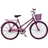 Bicicleta 26 Poty Rosa Pink Acessórios Rosa Bb