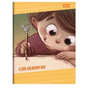 Caderno Pedagógico Caligrafia Com 40 Folhas Vac17 - Capa Ú