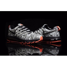 Nike Fingertrap Airmax 2017 Men Flyknit Grey Envio Gratis