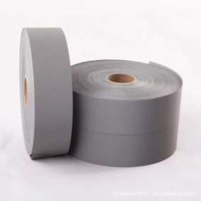 Tecido Fita Refletiva Cinza 5,0cm X 100m P/ Uniformes
