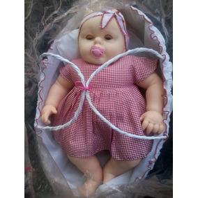 Muñeca Bebé Querido En Moisés, Llora Al Sacarle El Chupón.