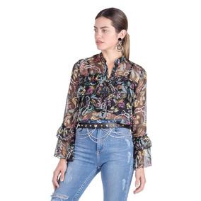 Camisa Mujer Lemongrass Delaostia Negro