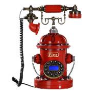 Telefone Com Fio Retro Hidrante Bombeiros Fire Vintage