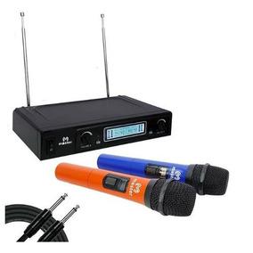 Sistema Microfonos Inalambricos Colores Vhf 60 Metros Master