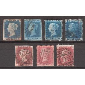 Inglaterra Rainha Victória 6 Selos One Penny Two Pence A-a .