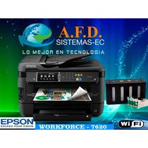 Impresora A3 Epson Workforce 7620 Con Sistema Tinta Continua