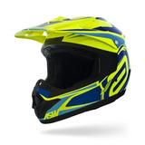 Capacete Asw Factory 17 Azul Fluor Fox 2018 Trilha Motocross
