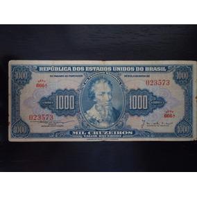 Nota Cédula 1000 Um Mil Cruzeiros 1955 C 051 Cabral Mbc / S