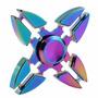 Fidget Spinner Metalico Aluminio Color Tornasol Arcoiris 4