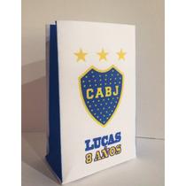 Bolsitas Golosineras Boca Juniors, River X 10 Personalizadas