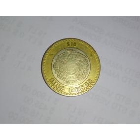 Moneda 10 Pesos 2007 Gráfila Invertida Excelente Estado