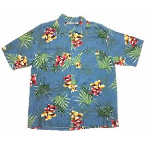 Camisa Hawaiana Tropical Floreada Surf Talle Xxl 1133