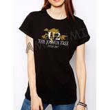Camiseta U2 The Joshua Tree Tour Camisa Feminina