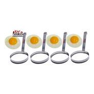 Modelador De Ovos Redondo Aço Inox Profissional Kit Com 4