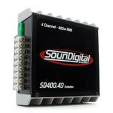 Modulo Amplificador Soundigital 400w Automotivo Sd400.4d Evo
