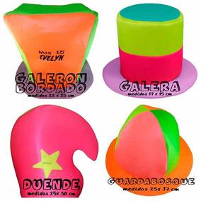 Cotillon Combo X 25 Unidades Fluo Sombrero Casamiento 15 Año