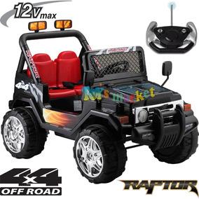 Jeep Raptor Batería 12v Control Remoto 2 Asientos 2 Motores