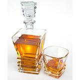 Art Decóter Whisky Set Con 4 Vasos En Caja De Regalo.