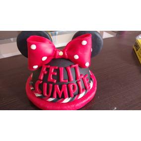 Adorno Para Torta De Cumpleanos De Minnie Mouse Cotillon Arte Y - Adornos-de-minnie-para-cumpleaos