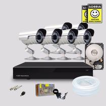 Kit Segurança Dvr Stand Alone 8 Canais + 1 Hd 6 Câmera Infra