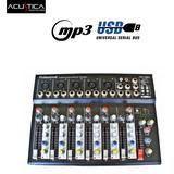 Consola Mixer 7 Canales Con Usb Efectos - La Roca -