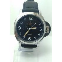 Kit 2 Relógio Masculino Luxo Ck Pulseira Couro Social Sport