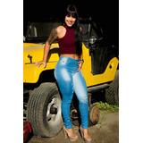 Calça Jeans Levanta Bumbum Rasgada Destroyer Destroy Moda