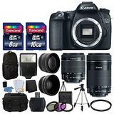 Canon Eos 70d Digital Slr Cámara Full Hd 1080p De Video Ef-