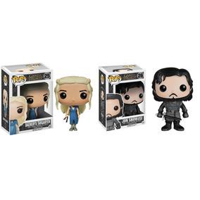 2 X Boneco Pop Funko - Game Of Thrones - Jon Snow + Daenerys