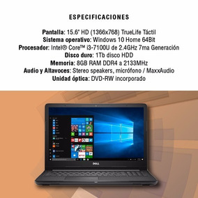 Notebook Dell Inspiron 15 I3-7100/8gb/1tb/touch/w10