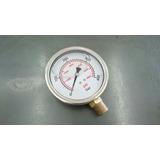 Manômetro Pressão Hidraulico 0-5800 Psi 0-400bar