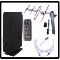 Kit Completo Tv Digital Tda Antena Ext Decodificador Cables