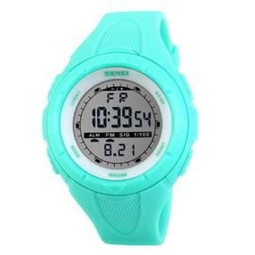 Relógio Feminino Skmei 1074 Digital Verde Com Nf