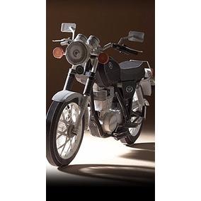 Moto Yamaha Sr400 Para Armar - Patrones Plantillas