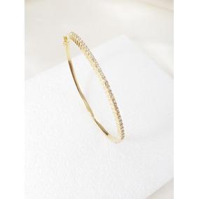 Bracelete Pavê De Ouro Amarelo Cravejado De Brilhantes Extra