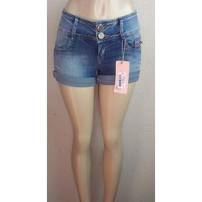 Shorts Jeans Feminino Cós Medio E Largo Emporio 1359