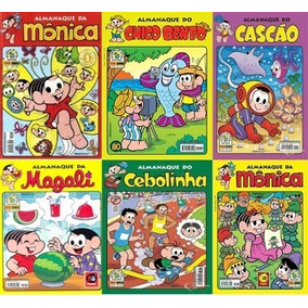 Kit Gibi Turma Da Mônica Com 5 Gibi