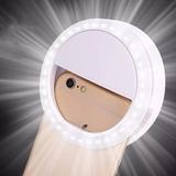 Clipe Anel Led Flash Selfie 3 Níveis De Luz Celular Notebook